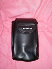 OLYMPUS CAMERA CASE/POUCH BLACK FAUX LEATHER - G COND