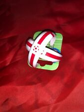 England Football Earrings  - 2 White St George Loop Earrings - Ideal Gift