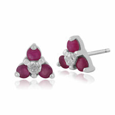 Heating Natural Ruby White Gold Fine Jewellery