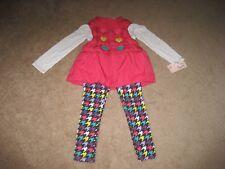 New Kids Headquarters Little Girls 3 Piece Heart Vest Set Pink. Size 5