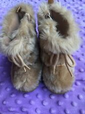 Baby Gap Faux Fur Winter Boots Mukluk Girls 4