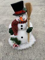 "Vintage Frosty The Snowman Top Hat & Broom Spot to Put Light 17""H x 12""W ❤️cb8m1"