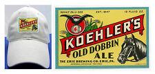 KOEHLER'S OLD DOBBIN BEER LABEL BALL CAP