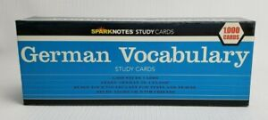 SparkNotes German Vocabulary Study Cards - 1000 Cards -