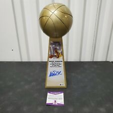 "Magic Johnson Signed L.A.Lakers 14"" Rep Championship Trophy Beckett COA HOF 2002"