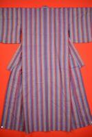 Vintage Japanese Wool Antique KIMONO Kusakizome Woven Textile/VE57/930