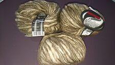 5 ovillos lana oveja merina, alpaga et angora : color muchos: kaki