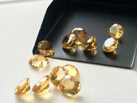 SALE!! Finest Lot OF Natural Citrine 3x3 mm Round Faceted Cut Loose Gemstone