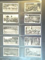 1932 Wills Sports UK History Events Photos Tobacco cards complete 54 card set