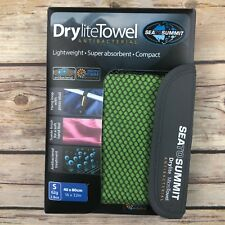 Sea to Summit Drylite Antibacterial Towel Lime Green Size Small Packable NEW