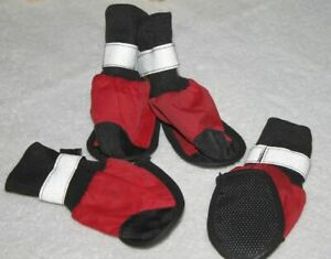 Top Paw REFLECTIVE DOG BOOTS  Protective Outdoor Rain/Snow   Size XS   Red NWOT