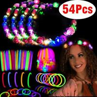 Glow Party Pack Favors Glow in The Dark Party Supplies 50 glow stick + 4 flowers