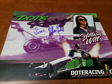NHRA TOPFUEL DRIVER HILLARY WILL AUTOGRAPHED 8X10 HANDOUT PHOTO CARD