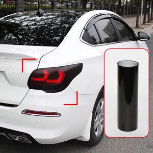 Car Headlight Taillight Lamp Film Light Dark Black 100cmx30cm tail light Vinyl P