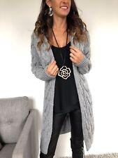 ★VIARELLA Strickmantel Grobstrick Jacke Knit Long-Cardigan grau ★ 36 38 40 S/M/L