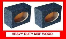 PAIR 6X9 SQUARE MDF SPEAKER BOX W/ Carpet & Terminal Cups HEAVY DUTY SPEAKER BOX