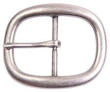 "Antique Silver Oval Center Bar Buckle - Fits 1-1/2"" Belts"