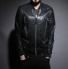 All Saints Sanderson Black Leather Jacket  EXTRA SMALL Size XS mishima jasper