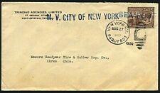 TRINIDAD 1930 cover NY Paquebot - CITY OF NEW YORK ship cancel etc.........20094
