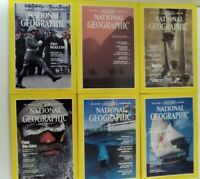 Lot of 6 National Geographic Magazines Jan, Feb, Jun, July, Aug, Sept, 1982