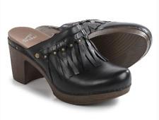 Dansko Women's DENI MULE Fringe Clog Shoe Leather Black Sz 41 NEW! $160 10.5 11