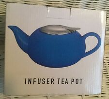 NEW Blue Infuser Teapot (17 oz. cap., w/stainless steel infuser)