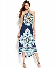 INC Printed High-Low Halter Cover Up Women's Maxi Dress, Size S