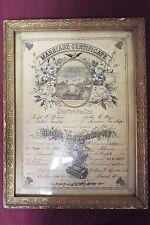 Antique Marriage Certificate - 1916