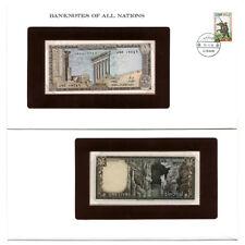 Lebanon Currency & Cover Set Une Livre 1984  Pick 61 Crisp Uncirculated
