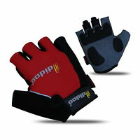 Mens New Cycling Gloves Bike Half Finger Bicycle Gel Silicone Fingerless Sports