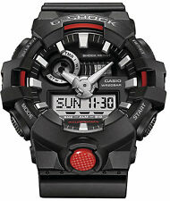 Casio G-SHOCK GA700-1A Super Illuminator 3D Ana-Digital Men's Watch | BLACK RED