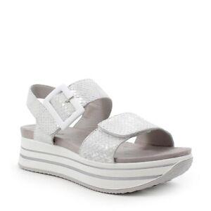 IGI&CO 7162044 Sandale mit Keilabsatz Frau Leder Doppelt Reißen Laminat