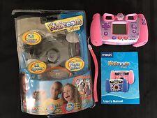 VTech Kidizoom Plus Digital Camera Pink Hearts Tried 1x Photo Model 80-07736 HTF