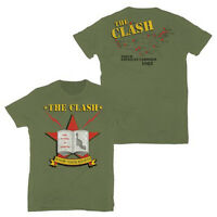 CLASH T-Shirt Know Your Rights US Tour 1982 Army Green Authentic S-2XL