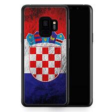 Samsung Galaxy S9 Hülle SILIKON Cover - Kroatien Splash Flagge Hrvatska Croatia