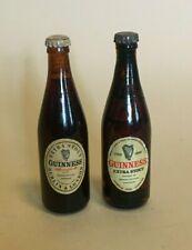 More details for 2 x miniature novelty glass guinness bottles - bicentenary 1759-1959