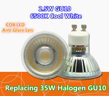 x5 Pcs GU10 2.5W COB LED Lamp Spotlight Spot Light Ceiling Downlight Anti-Glare