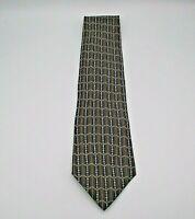 """Valentino Cravatte Men's Neck Tie Brown & Blue Multipattern Silk 59"""" x 3.75"""""""