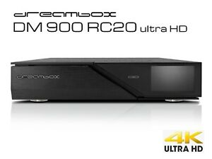 Dreambox DM900 RC 20 UHD 4K Receiver 1x Dual S2X MS Tuner Linux