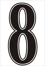 Football shirt number for just £1 (per digit)) IRON ON or heatpress Vinyl BLACK