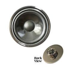 Speaker Cone Design Metal Pin Badge DJ boombox music bass amp Brand New