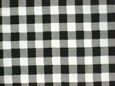 BLACK GINGHAM CHECK KITCHEN PATIO DINE BBQ OILCLOTH VINYL TABLECLOTH 48x96 NEW