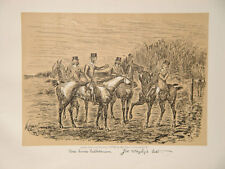 FINCH MASON FOX-HUNTING RIDING England Caricature Hunter Hunting Riding Horse Turkey