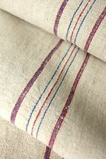 Vintage homespun grainsack fabric grain sack material linen 8.8 yds hemp natural
