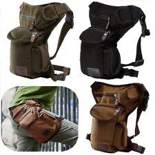 Men Outdoor Canvas Drop Waist Leg Bags Waist Pack Bag Running Belt Bicycle and M