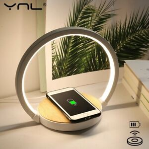 Wireless Charging Touch Control Desk Led Table Bedside Study Lights Reading Lamp
