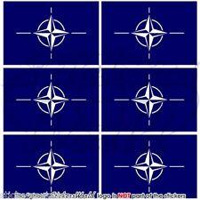 NATO Bandiera OTAN Alleanza Nord Atlantica Adesivi per Celllare Mini Stickers x6