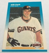 Will Clark Fleer ROOKIE Card #269 San Francisco Giants First Base Glossy NICE