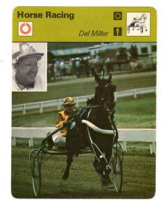 1979 Del Miller Harness Horse Racing Legend Sportscaster Card #101-03