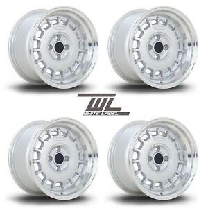"""WL Classic 15"""" 8.25J ET20 alloys fits MX5 VW GOLF POLO LUPO CIVIC E30 MINI 4x100"""